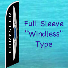 Chrysler Windless Feather Flag Tall Curved Top Swooper Flutter Banner Sign