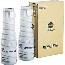 Konica Minolta Genuine/Original MT TONER 302A 2x Bottle Copier/Print 8936-402