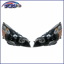 New Headlamps Left+Right Black Design For 2010-2014 Subaru Legacy/ Outback