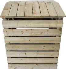 Nativ stabiler Komposter aus Holz mit Deckel, Kompostierer, Holzkomposter