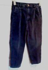 Good Kidz Boys Navy Blue Corduroy Pants Size 7 Adjustable Waist Pleated