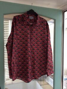 James Meade Limited Red Multi Floral Poppy  Shirt Size 24