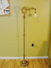 Antique Vintage Bridge Lamp Floor Lamp Cast Iron Working Condition