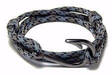 Nautical Fish Hook Bracelet Hand Made USA Men Women Fashion Jewelry Adjustable