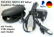 Org. TEUFEL MOVE BT InEar Kopfhörer Headphones + Tasche + USB-Adapter + 2 Kabel