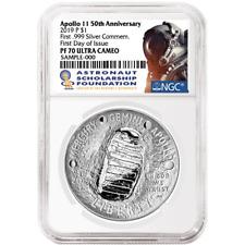 Astronauts & Space Travel Shop For Cheap 2019 P Apollo 11 Astronaut 5 Oz Silver Dollar Ngc Pf70 Fr Black Core Sku57203