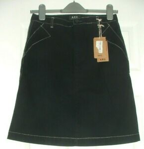APC Short Mini Denim Skirt Dark Indigo EUR Size 36