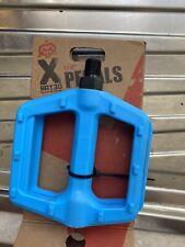 X-Rated BMX Bike Flat Platform Pedals Light Blue