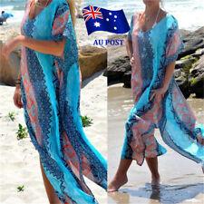 Women's Summer Boho Long Kaftan Maxi Dress Evening Cocktail Party Beach Dress JW