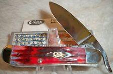 Case XX Cutlery Russlock Jigged Crimson Handles Folding Knife