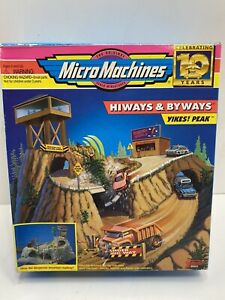Micro Machines Highways and Byways Yikes! Peak Playset with box - Missing pieces