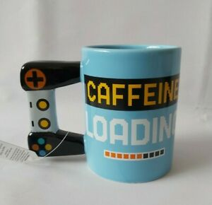 Large Mug, Caffeine Loading Gamer Mug. 500ml Gaming Mug, Coffee Mug