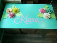 Paper Flowers Wall Decor Baby Nursery Decor Girls Bedroom with name
