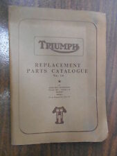 Triumph Replacement Parts Sep. 1957 5t 6t t100 tr5 tr6 issue No.14 Engine 011116