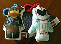 Set of 2 The Lego Movie Plush Clips Clip On Doll - Lucy & Sweet Mayhem Play Toys