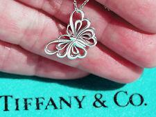 Tiffany & Co Plata de Ley Mariposa Collar con colgante 40.6cm