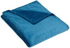 "Embossed Velvet Plush Blanket, Queen 90"" x 90"" Teal"