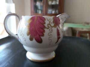 Antique Grosvenor China Leighton handpainted pink gold Milk jug mint condition