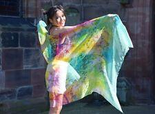 Luxury 100% silk scarf British Designer Indie Bohemian Hippie Yoga art shawl