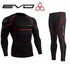 Evo Active Mens Compression Base Layer Armour Top Skin Leggings, S,M,L,XL,XXL