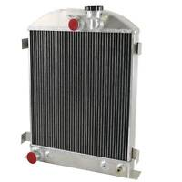 4 Row Aluminum Radiator For Ford Chopped Hot Rod Ford V8 Engine AT/MT 1932-1936