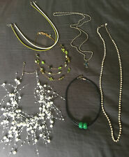 Bead- Cross - Cz - neckwires- Fun*+*+ 7 - Costume Jewelry Necklace Lot / Pearl-