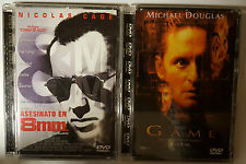 PELICULA DVD PACK THE GAME+ASESINATO EN 8mm EDICION SUPERJEWEL CASE