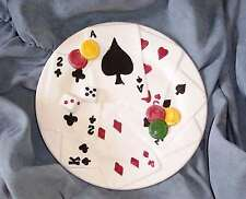 "NEW  CASINO CRAPS CARDS CHIPS DICE PLATE LINEN & THINGS 8"" HAVE 3 AVAILABLE"