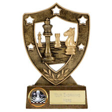 CHESS TROPHY ENGRAVED FREE CHECKMATE PAWN KING QUEEN BISHOP GRANDMASTER TROPHIES