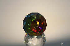 Swarovski Crystal Round Ball 50mm Paperweight 7404 NR 50 VM Orange Yellow MINT