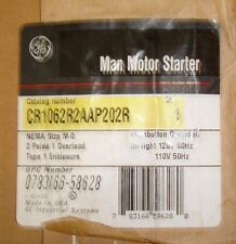 New GE General Electric CR1062R2AAP202R Manual Motor Starter 2 Pole Size M-O