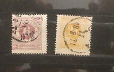TIMBRE SUEDE: Très vieux timbres 1872, N° Y/T 19 et 22 - 6 et 24 Öre (A155)