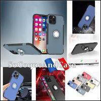 Coque housse Etui magnétique Finger Ring Case cover iPhone 12, 12 Pro, Max, Mini