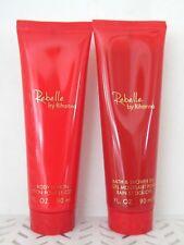 2 Pc Combo Rebelle by RIHANNA Shower Gel & Body Lotion 3 oz Each