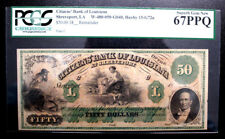 $50  CITIZENS' BANK of LOUISIANA at Shreveport PCGS 67 PPQ  SUP GEM NEW PLATE C