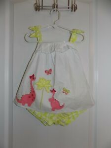 GYMBOREE Girls Butterfly Catcher Dinosaur Pink Green 3T Swing Top Bloomers NWT
