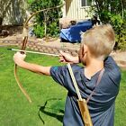 Adventure Outdoor- 2-Pack Handmade Wooden Bow & 20 Wood Arrow Set- 2 Quivers USA