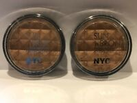 Lot of 2 NYC Sun'n'Bronze Bronzing Powder 707 Fire Island Tan