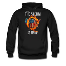 Qanon WWG1WGA Q Anon Sweater The Storm Is Here Patriotic Men's Hoodie