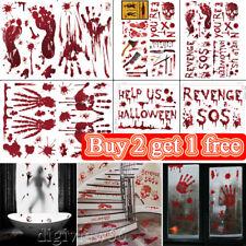 Bloody Handprint Footprint Stickers Halloween Decoration Windows Wall Floor Prop