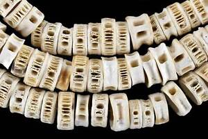 Fish Vertebrae Bone Beads African 44 Inches SALE WAS $29.00