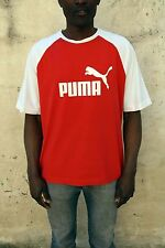Puma Oversized Red/White Mens Vintage 90s Logo T Shirt Very Good XXL Look