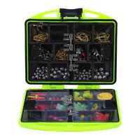 24 Compartments Fishing Tools Set Tackle Box Full Loaded Lure Bait Hooks Sinker❤