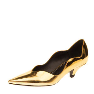 RRP €525 PROENZA SCHOULER Leather Court Shoes EU 37 UK 4 US 7 Made in Italy
