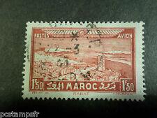 MAROC - 1933, timbre AERIEN 36, AVION, AERIENNE, oblitéré, AIRMAIL STAMP