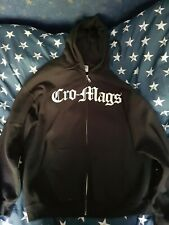 More details for cro-mags zip up hoodie size xl nyhc ukhc hardcore punk metal