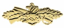Navy Seabees Combat Service 1 1/2 Inch Gold Overlay Hat Lapel Pin H25041gld168