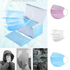 50 Pieces Face Mask Anti Haze Pollution Mask Unisex Protection Fabric Mouth Mask