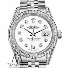 Ladies Rolex Datejust 31mm Stainless Steel White Color Diamond Dial Watch