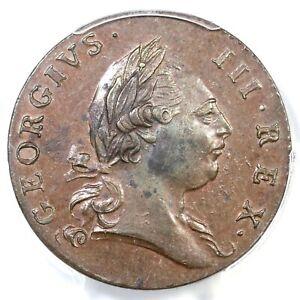 1773 21-N R-4+ PCGS MS 62 BN Period Virginia Colonial Copper Coin 1/2p